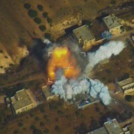[Сирия] Как отбивали атаку на Кесабию || Видео с беспилотника