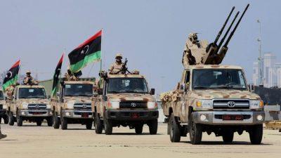 бойцы Ливийской Национальной Армии ЛНА в Ливии