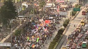 Протест против убийств лидеров социалистов в Колумбии