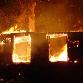 Fire in a children's camp