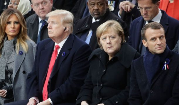 Трамп, Меркель и Макрон