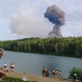 ВКрасноярском крае взорвался склад с боеприпасами — [видео]
