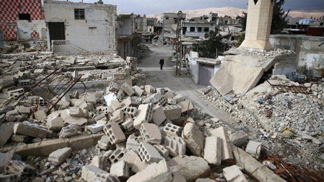 разруха в Сирии