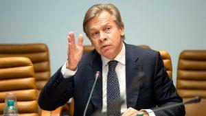 Сенатор Пушков уличил главу МИД Латвии в незнании определения «оккупация»