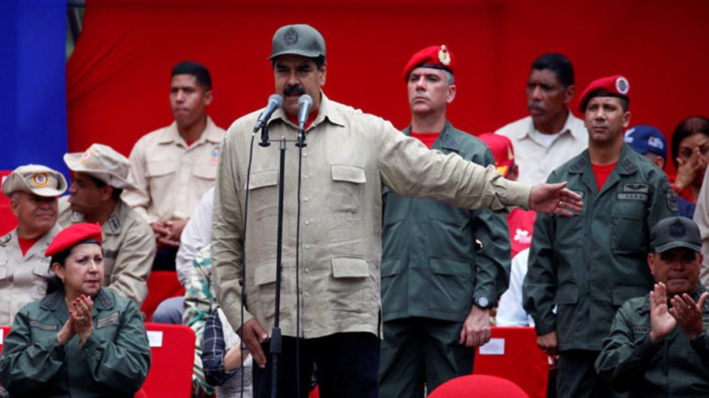 президент Венесуэлы Николас Мадуро и военные