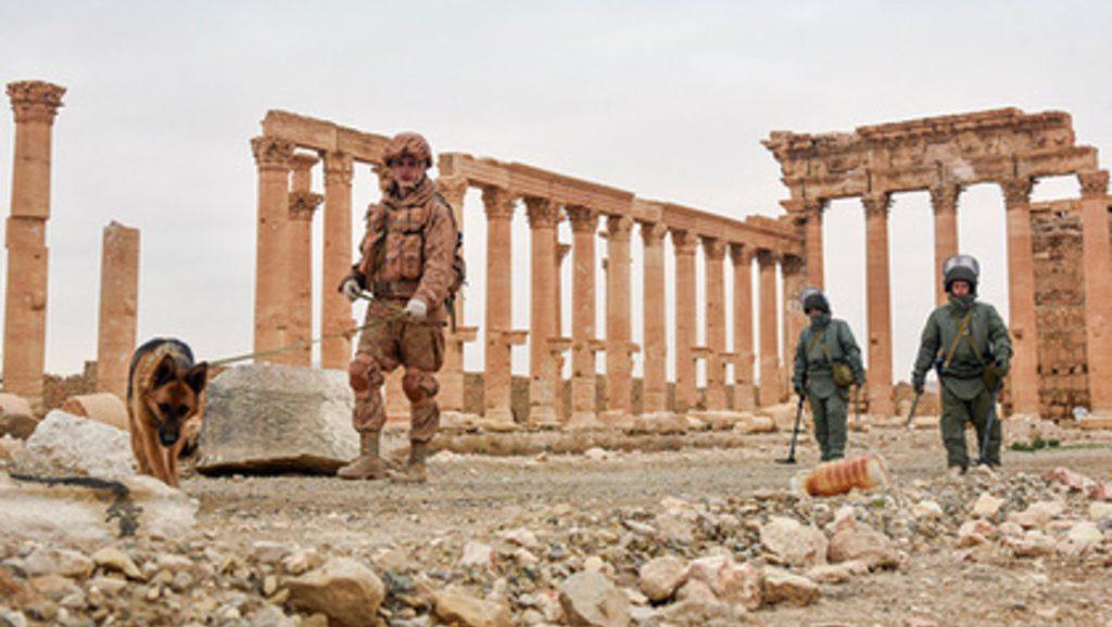 разминирование сирийской Пальмиры