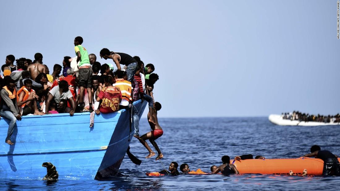 беженцы в Средиземном море