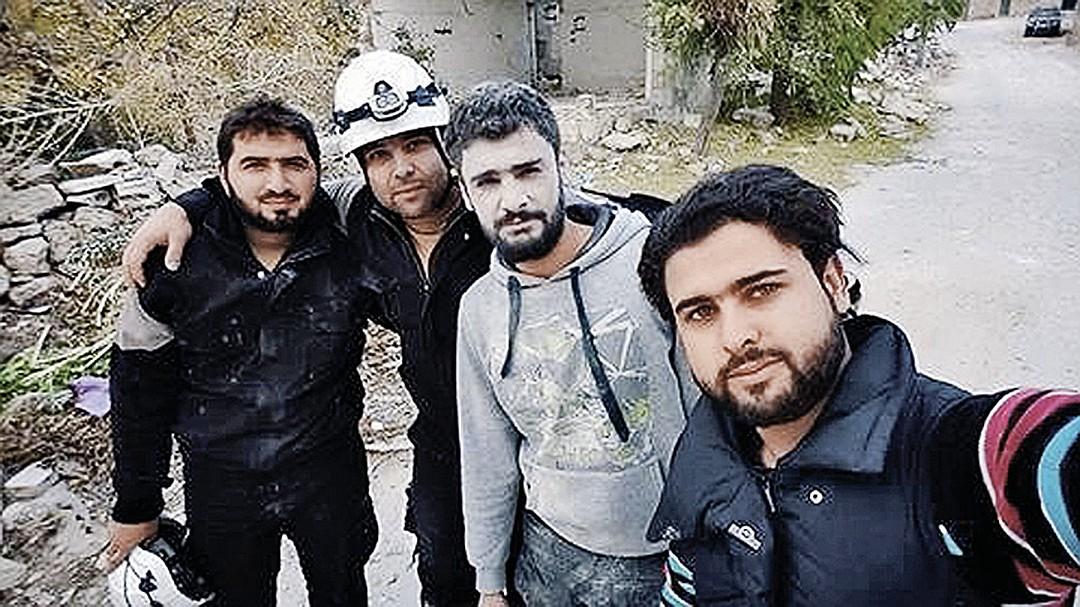 участники съемок провокационного ролика в Сирии