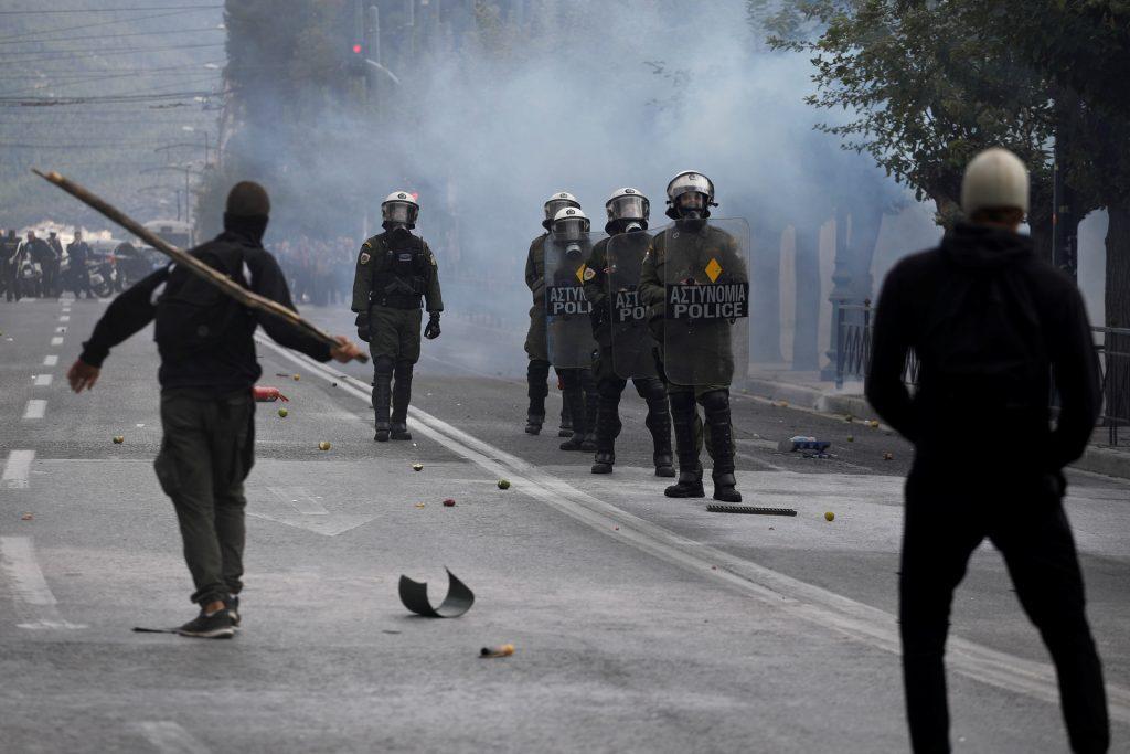 В Греции вновь бушевали стычки полиции и студентов