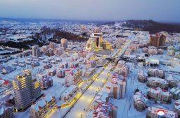 """открытие """"образцового города  Самджион"""" в КНДР"""