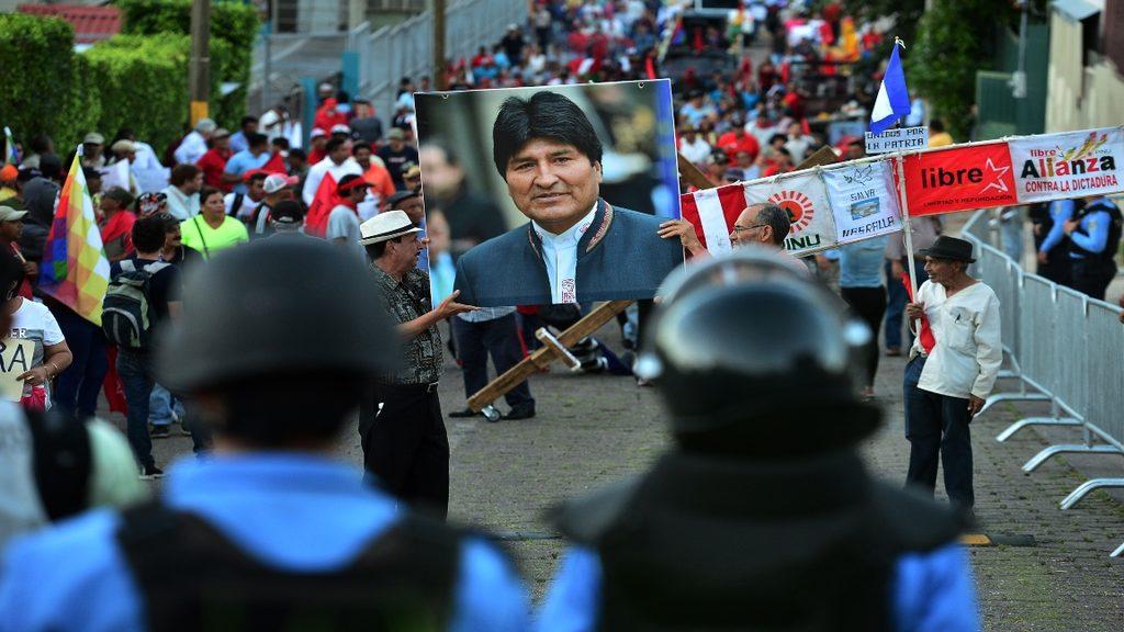 митинг в поддержку Эво Моралеса