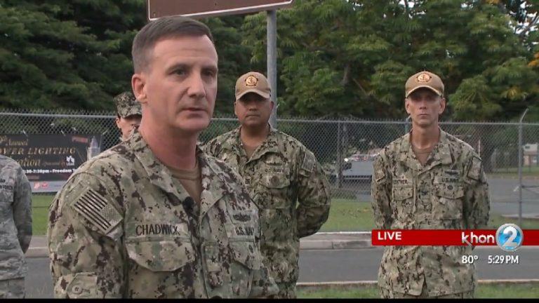 Контр-адмирал США Роберт Чедвик рассказал прессе об инциденте