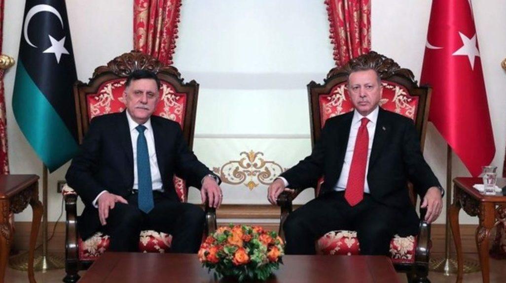 Фаиз Саррадж и Реджеп Эрдоган