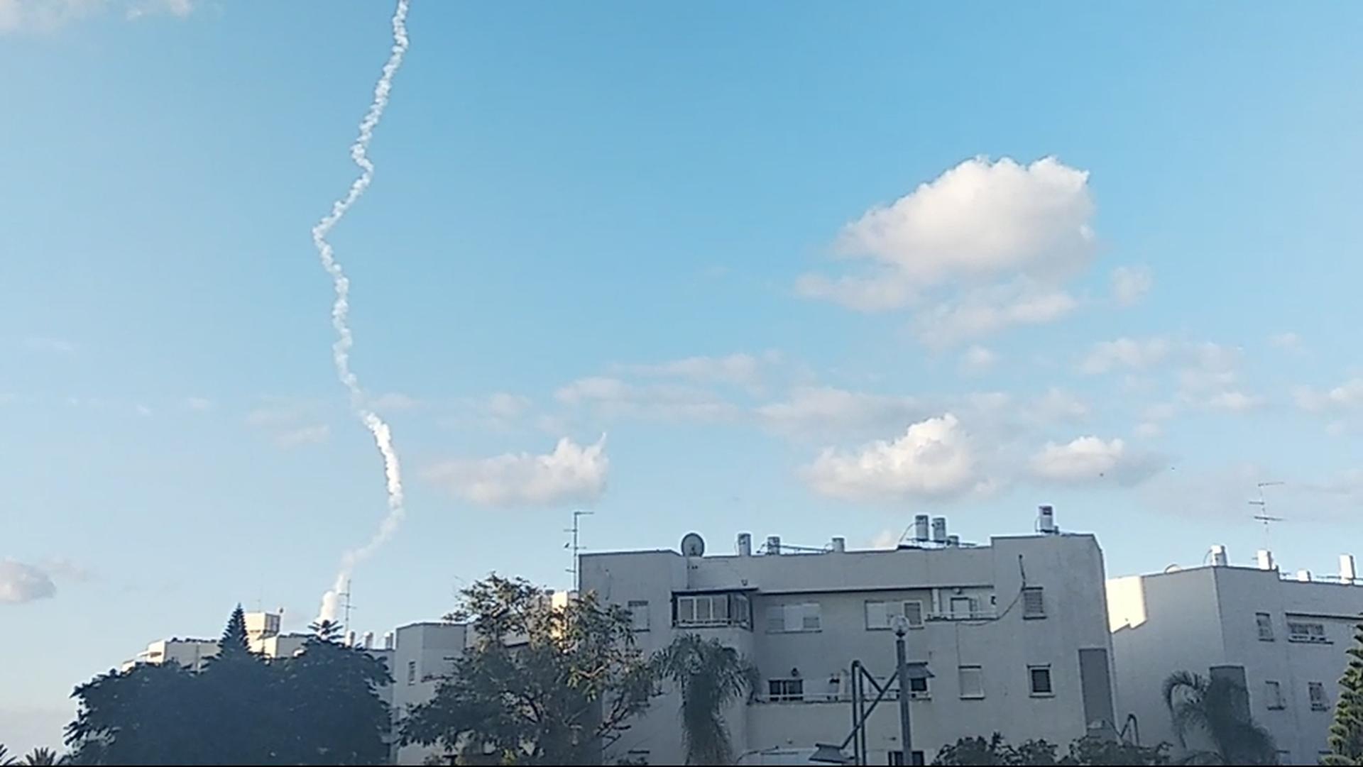 испытание ракетной установки Израиля
