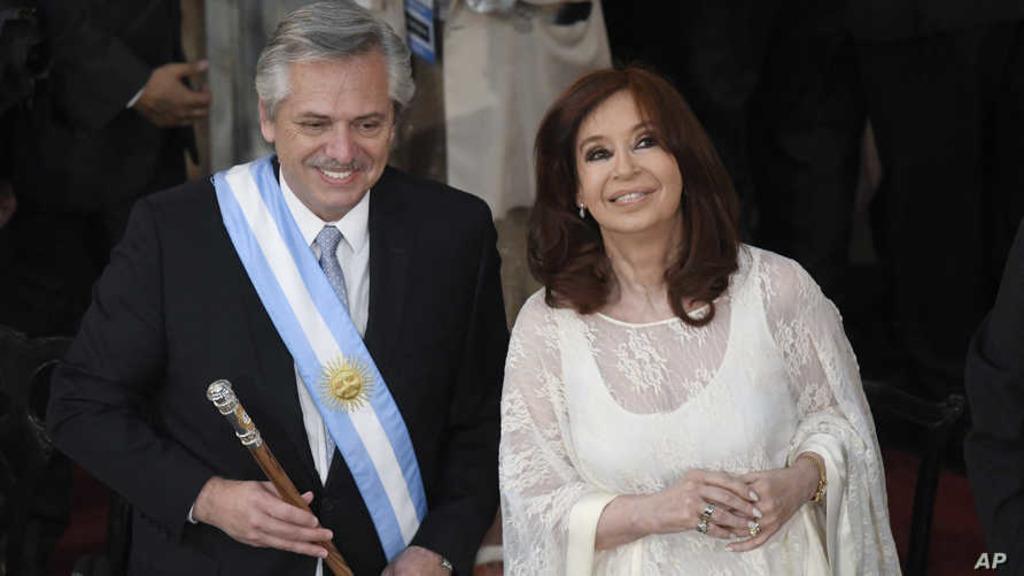 президент Аргентины Альберто Фернандес и вице-президент Кристина Киршнер