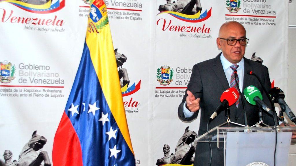 министр связи и информации Венесуэлы Хорхе Родригес