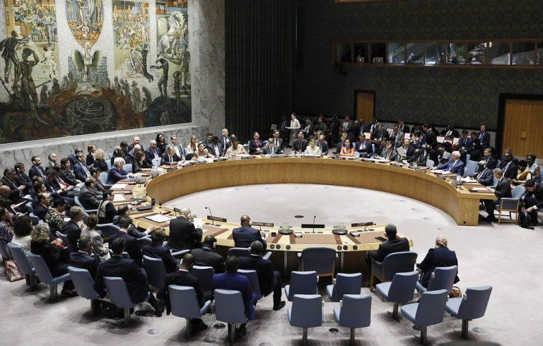 NEW YORK CITY, USA – SEPTEMBER 26, 2019: A meeting of the UN Security Council on the sidelines of the 74th session of the United Nations General Assembly at the UN headquarters. Alexander Shcherbak/TASS  ÑØÀ. Íüþ-Éîðê. Íà çàñåäàíèè Ñîâåòà áåçîïàñíîñòè