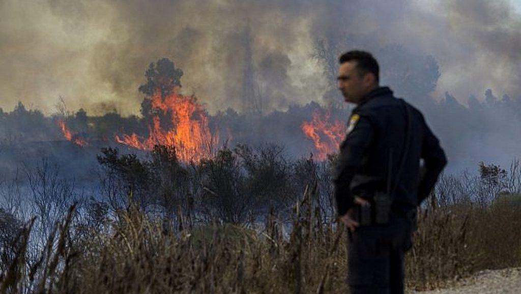 зажигателные воздушные шары вызвали пожары в Израиле