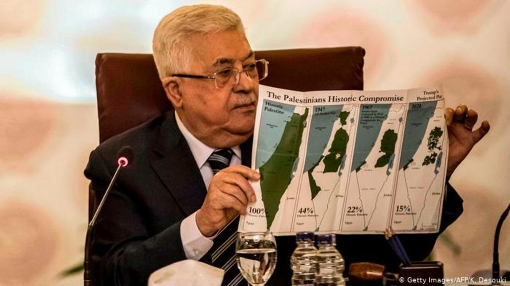 Аббас и карта Палестины