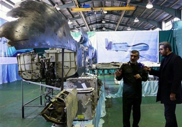сбитый Ираном дрон RQ-4A-Global-Hawk