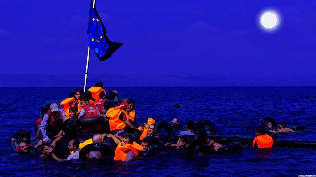 Стройка лагеря мигрантов вызвала столкновения жителей греческого острова с полицией