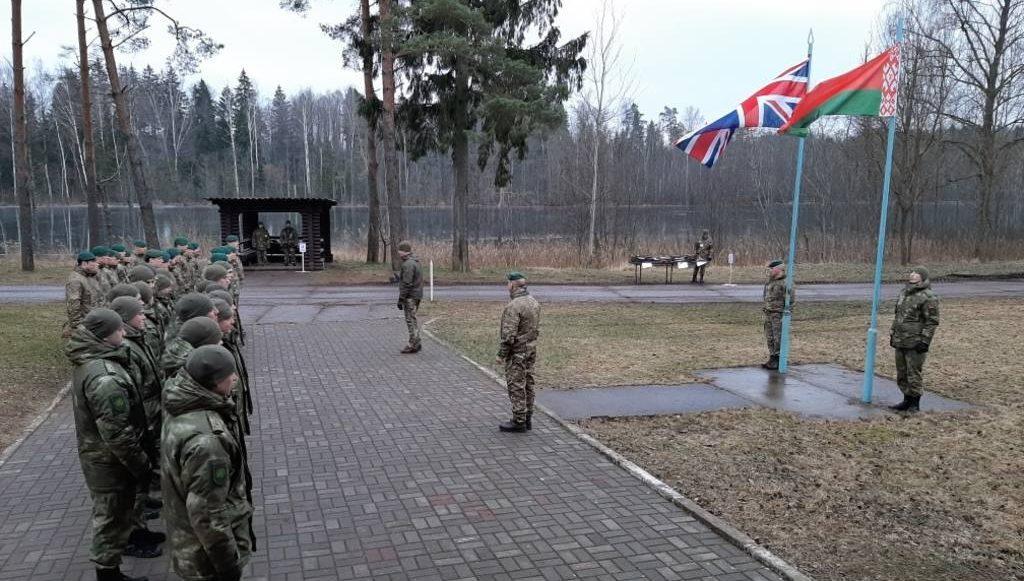 """британо-белорусские военные учения """"Зимний партизан"""""""