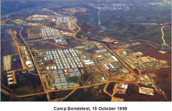 """военная база США в Косово """"Бондстил"""""""