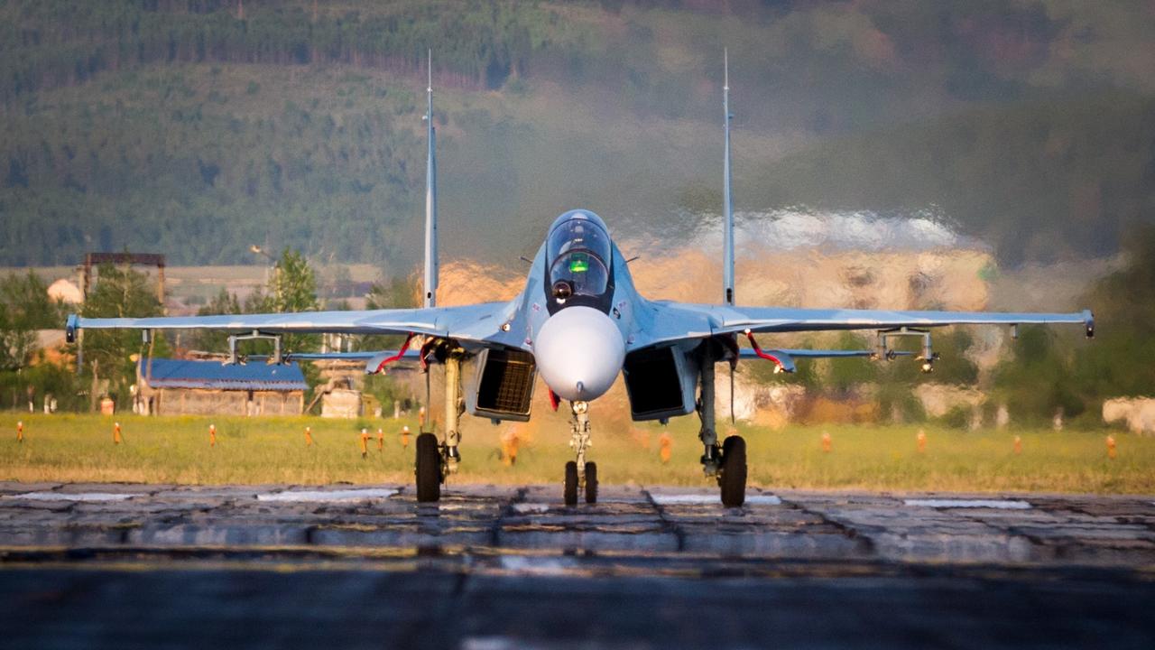 Обои Sukhoi, Su-30sm, истребитель, многоцелевой. Авиация foto 2