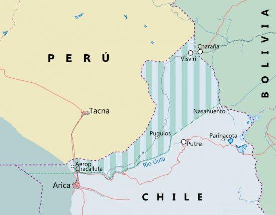 Карта с предложением Аугусто Пиночета Боливии