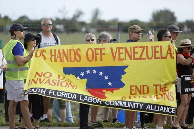 """активисты организации в США """"Руки прочь от Венесуэлы"""""""