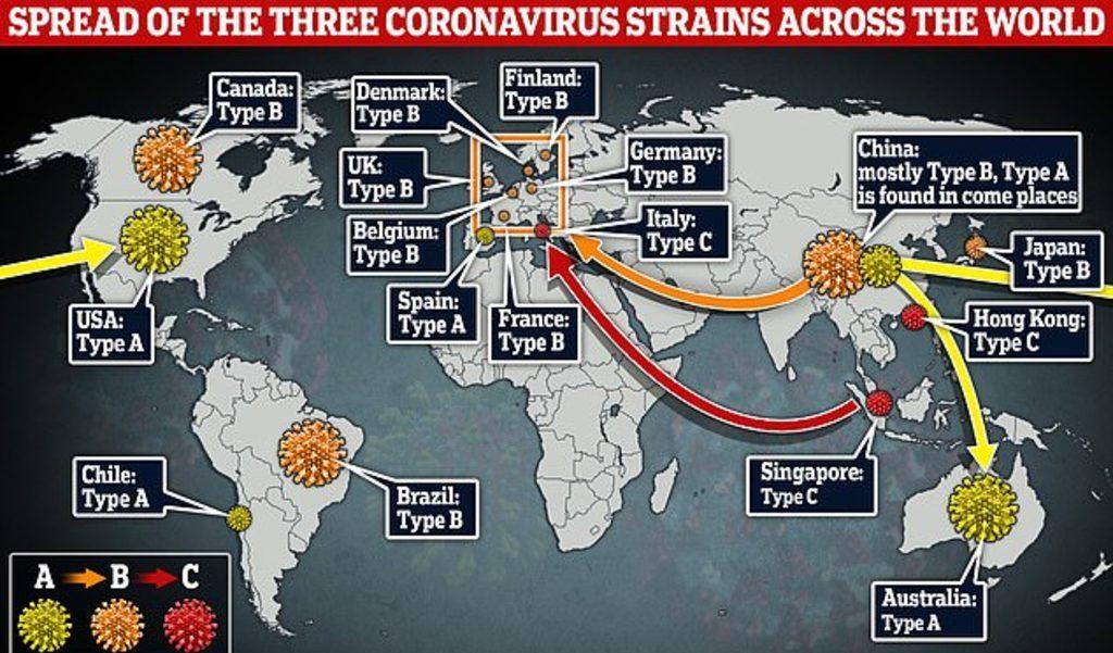 карта пути распространения коронавируса в мире