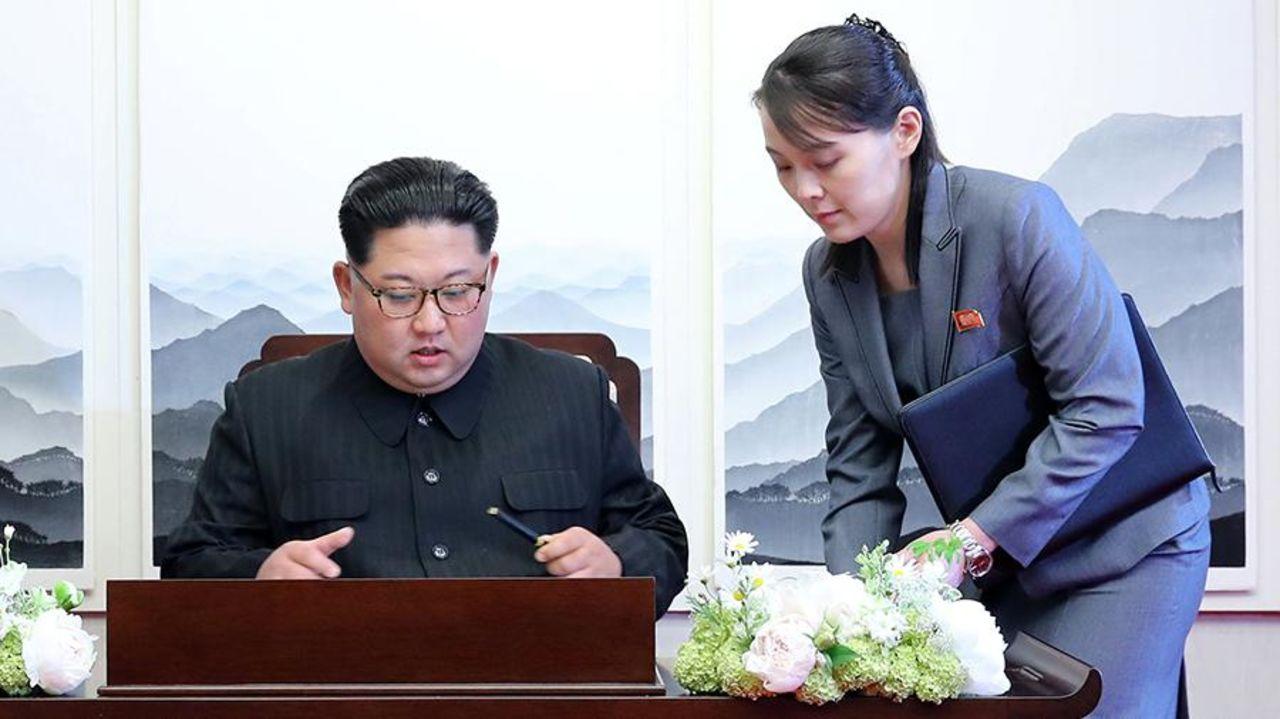 Ким Чен Ын и Ким Ё Чжон