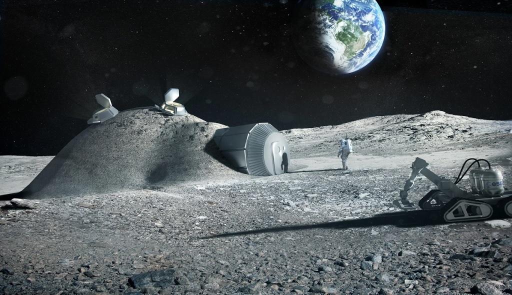база и полезные ископаемые на Луне