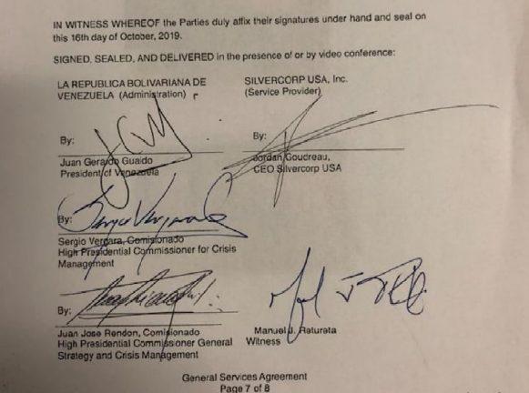 контракт между Гуайдо и ЧВК Silvercorp