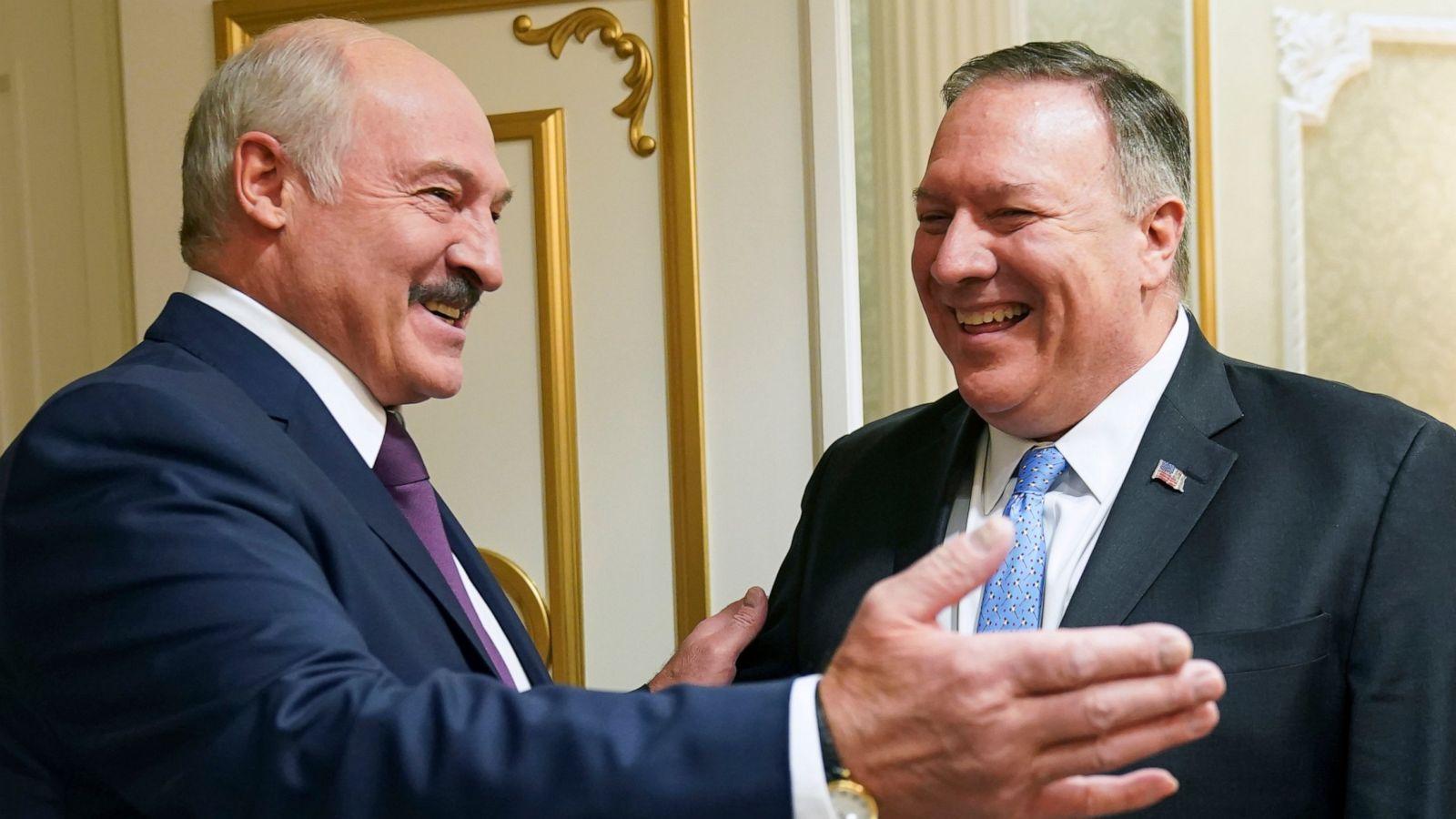 Александр Лукашенко и Майк Помеео