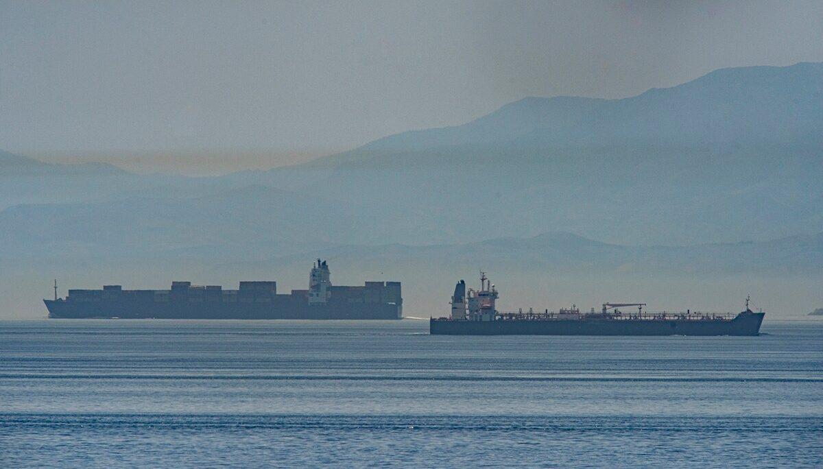 иранский танкер возле Гибралтара