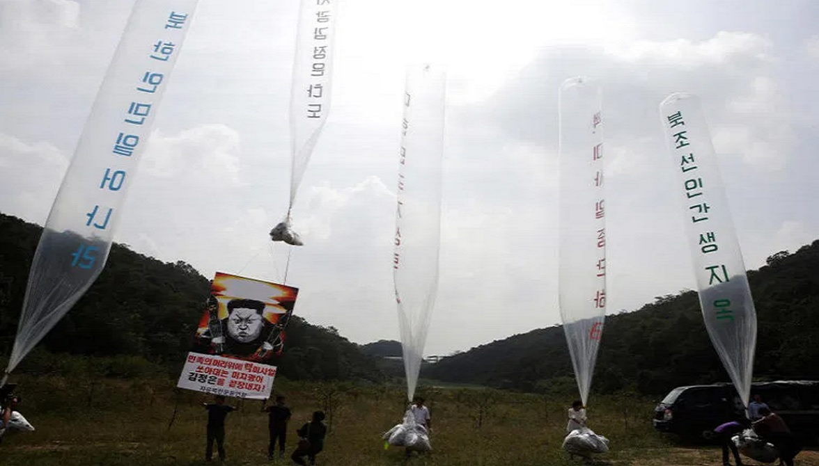 отправка в Северную Корею воздушеых шаров с пропагандой против властей Ким Чен Ына