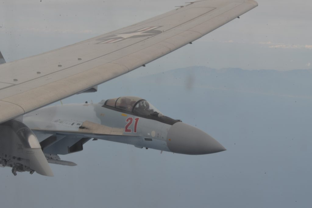 Кадры перехвата американских самолётов над Чёрным морем появились в Сети
