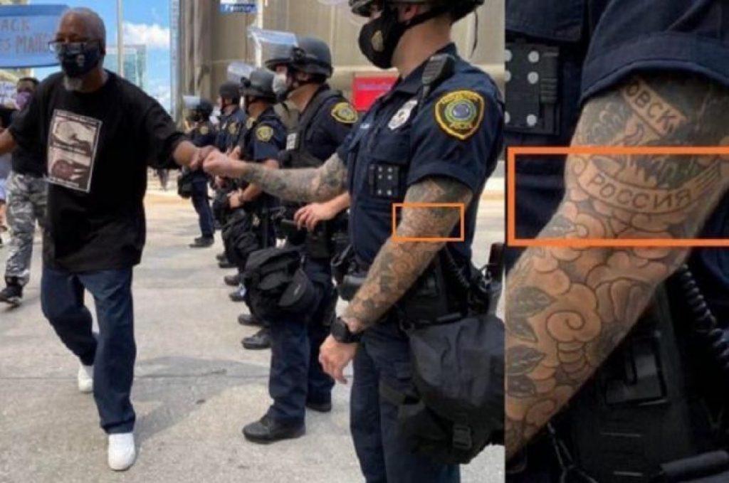Мир узнал имя американского полисмена с татуировкой «Россия»