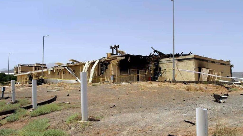 поврежденный пожаром объект в Нетензе