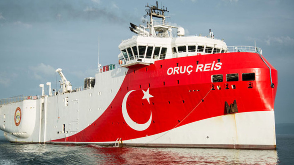 буровое-разведрчное суднно Турции Oruc Reis