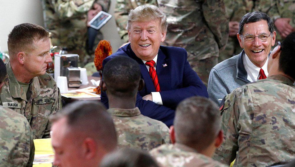 Трамп на базе в Афганистане