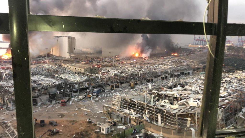Бейрут после взрыва селитры