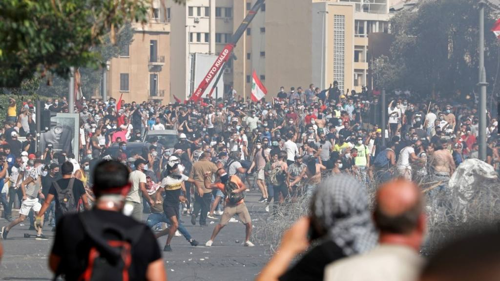 протесты в Бейруте 8 авуста 2020