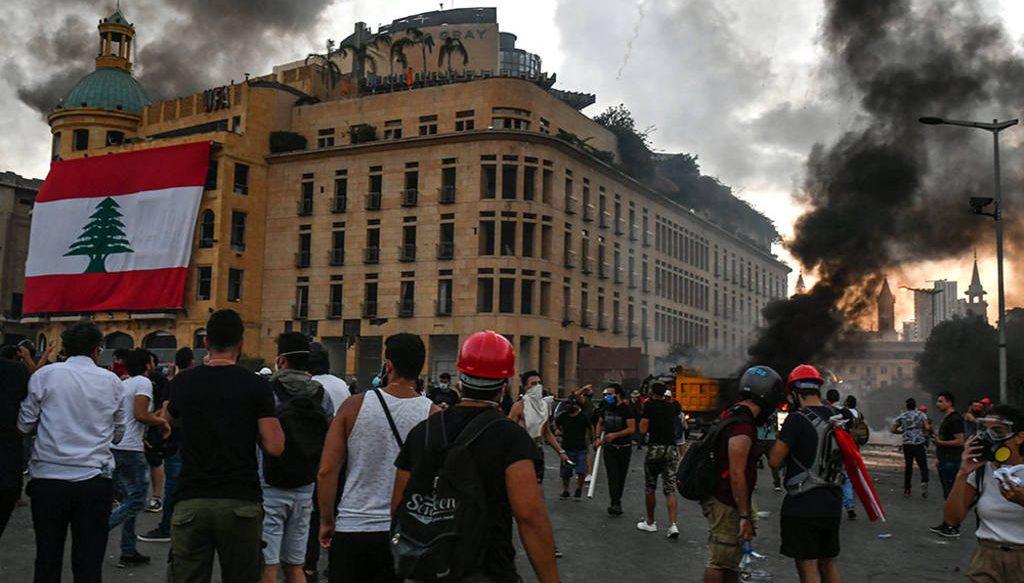 протесты в Ливане август 2020