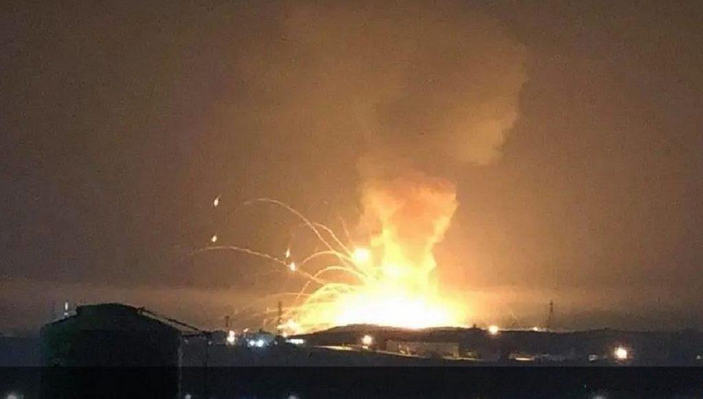 взрыв на военном складе иорданского города Аз-Зарка