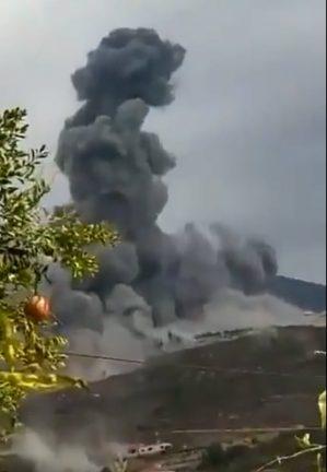 взрыв на складе в Айн-Кана в Ливане