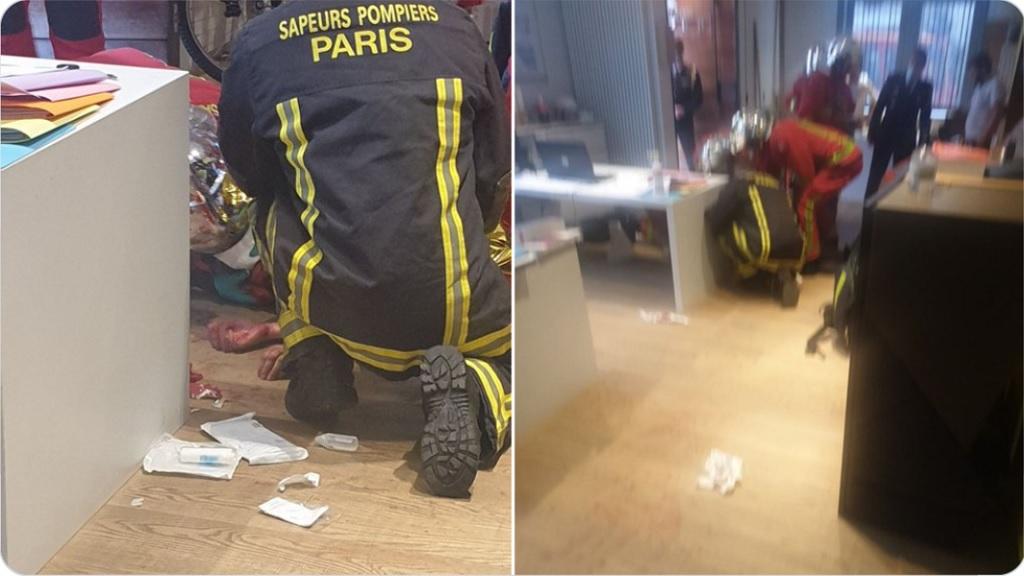 """нападение с ножом возле старого офиса """"Шарли Эбдо"""""""