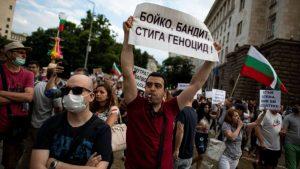 протесты в Болгарии 2020