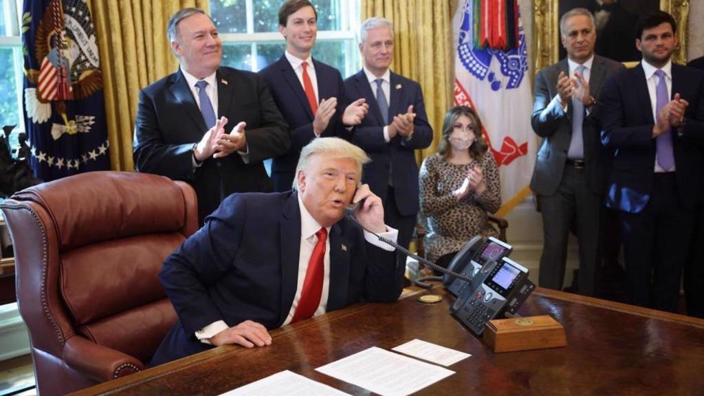 Трамп, Помпео, Кушнер в Белом доме